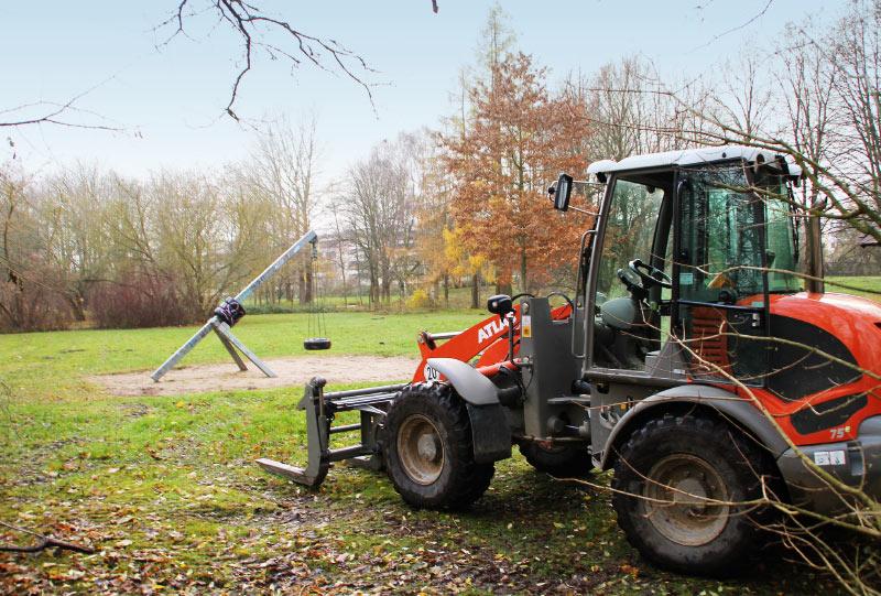 Mehrgenerationen-Aktivplatz Rostock Südstadt im Bau