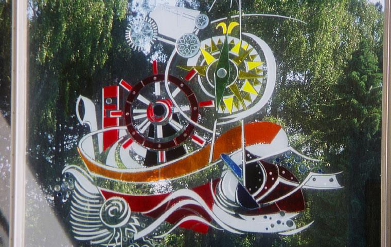 Glasmotive Kunst am Bau Schiffbautechnische Fakultät Rostock