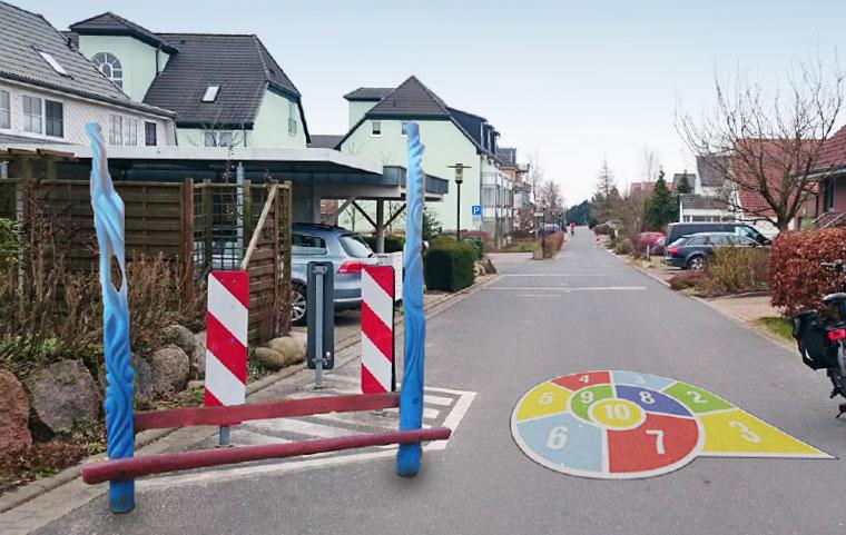Idee Verkehrsberuhigung Biestow Kinder Spielstraße