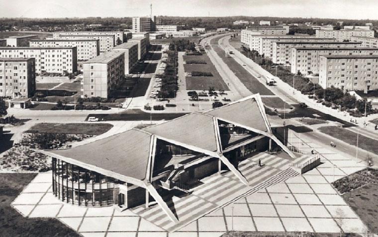 Müther Betonschalenbau Rostock Südstadt Kosmos