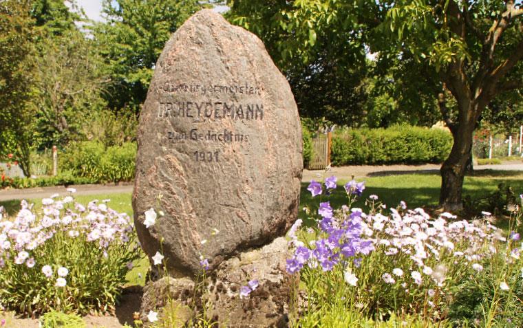 Gedenkstätte Rostocks Oberbürgermeister Heydemann Groter Pohl