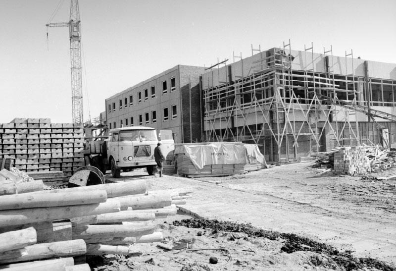 Baustelle Mensa Rostock Südstadt 1969